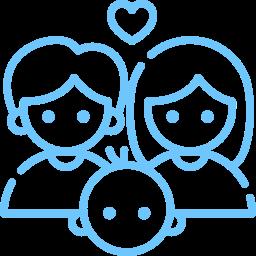 Happy parents icon